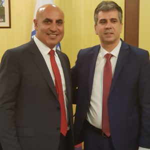 IGCC Chairman Meni Benish, with israel's Minister of economy Mr. Eli Cohen