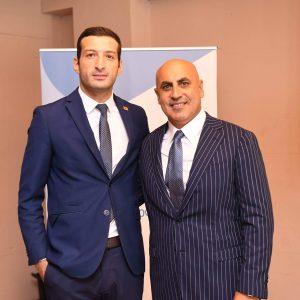 Mikheil Khidureli the CEO of Enterprise Georgia, with IGCC chairman