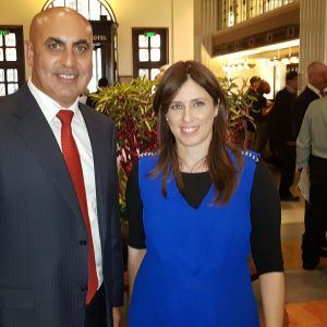 IGCC Chairman Meni Benish with the former deputy to the Minister of foreign affairs, Ms. Tzipi Hotovelli