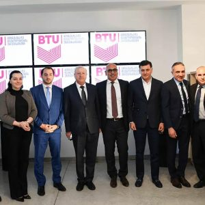 IGCC Chairman Meni Benish with the Georgian Former Minister of Education Mr. Mikheil Batiashvili at the Opening of BTU Hi-Tech College in Tbilisi