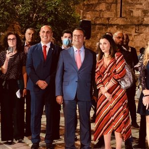 IGCC chairman with Jerusalem Mayor Moshe Leon