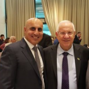 The President of Israel Mr. Reuven Rivlin with IGCC Chairman, Meni Benish.
