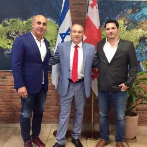 Israeli ambassador in Georgia Ran Gidor, with the IGCC Chairman Meni Benish and with the IGCC's CEO  - Avidan Wiener